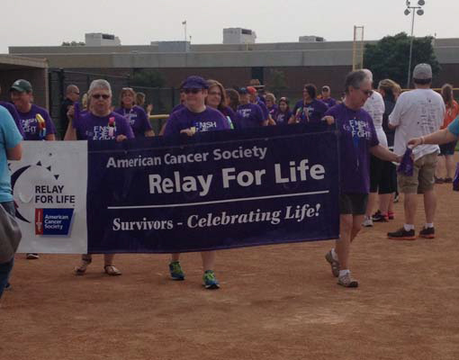 Benchmark Relay for LIfe American Cancer Society sponsor fo r20 years.